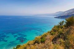 Agia Kyriaki w Kefalonia wyspie, Grecja Fotografia Stock