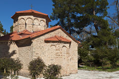 Agia Lavra at Kalavryta in Greece. Church of Agia Lavra at Kalavryta village in Greece royalty free stock photography