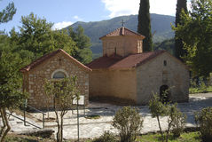Agia Lavra Monastery dans Kalavryta Images libres de droits
