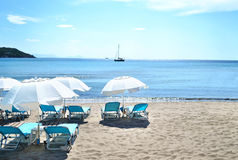 Agia Marina beach Aegina Greece Royalty Free Stock Images