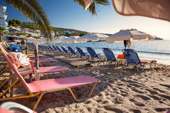 Agia Marina beach on Aegina Island, Greece Stock Image