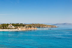 Agia Marina beach in Spetses, Greece Royalty Free Stock Photography
