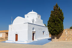 Agia Marina kościół, Milos wyspy, Cyclades, Grecja Zdjęcie Stock