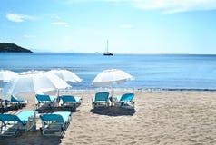 Agia Marina plaża Aegina Grecja Obrazy Royalty Free