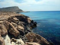 Agia Napa Küstenlinie Stockbild