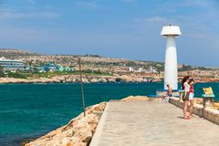 Agia Napa Marina widok przy letnim dniem Obraz Royalty Free