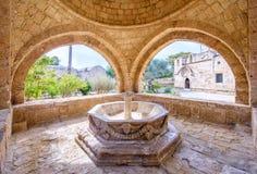 Agia Napa monasteru fontanna w Cypr 1 Zdjęcia Stock