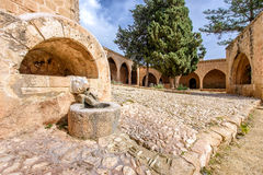 Agia Napa monastery boars head fountain in Cyprus 1 Royalty Free Stock Image