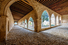 Agia Napa monastery courtyard arches in Cyprus 6 Stock Image