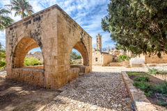 Agia Napa monastery courtyard arches in Cyprus 8 Stock Images