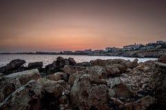 Agia Napa nach Sonnenuntergang lizenzfreies stockbild