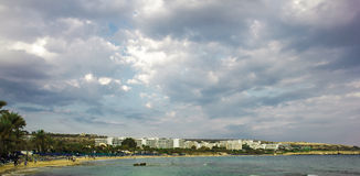 Agia Napa stadstrand Royaltyfri Bild