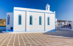 Agia Paraskevi church, Milos island, Cyclades, Greece Stock Photos