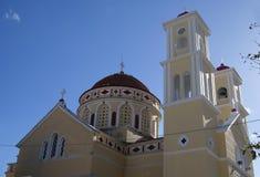 Agia Paraskevi kościół w Kalyves, Crete, Grecja Obraz Stock