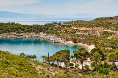Agia Paraskevi w Spetses, Grecja Zdjęcia Royalty Free