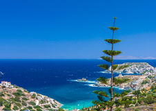Agia Pelagia bay. From the top of the hill Royalty Free Stock Photography