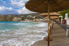 Agia Pelagia beach. Sunny morning, Crete, Greece Royalty Free Stock Images