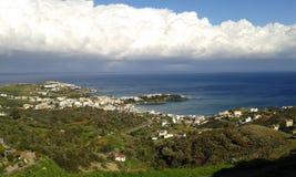 Agia Pelagia. Clouds and blue sky over Agia Pelagia. Crete. Greece Stock Image