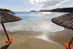 Agia Pelagia plaża na Crete Zdjęcia Stock