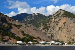 Agia Roumeli, Crete Fotografia Stock