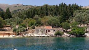 Agia Sofía y Plati Limani en Kefalonia Imagen de archivo libre de regalías
