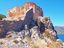 Agia Sofia, Bizantyjski kościół w Monemvasia, Grecja zdjęcia royalty free