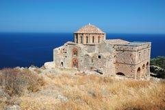 Agia Sofia church of town Monemvasia,Greece stock image