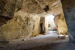 Agia Solomoni katakumba przy Paphos Obraz Royalty Free