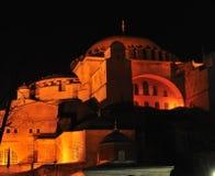 Agia Sophia nachts Lizenzfreie Stockfotos