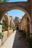 Agia Triada修道院在克利特,希腊 免版税图库摄影