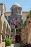 Agia Triada修道院在克利特,希腊 库存图片