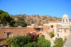 Agia Triada修道院,克利特 库存图片