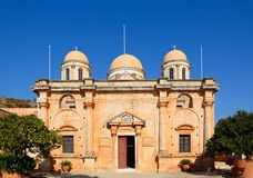 Agia Triada修道院,克利特 库存照片