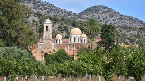 Agia Triada修道院 免版税库存图片