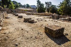 Agia Triada宫殿 免版税图库摄影