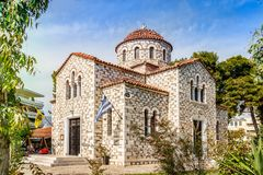 Agia Triada教会在沃洛斯 免版税库存图片