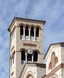 Agia Triada教会塔在比雷埃夫斯 库存图片