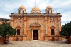 Agia Triada-克利特,希腊修道院  免版税库存图片