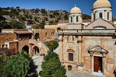 Agia Triada -在克利特海岛上的修道院  免版税库存图片