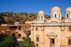 Agia Triada monaster, Crete Zdjęcia Royalty Free