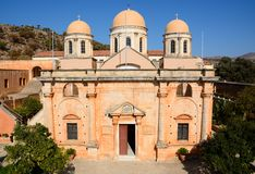 Agia Triada monaster, Crete Obrazy Royalty Free