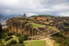 Agia Triada monaster przy Meteor, Grecja Fotografia Stock