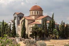 Agia Triada Ortodoksalny kościół Atehns Zdjęcie Stock