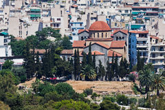 agiaathens kyrklig greece ortodox triada arkivfoton