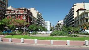 Agias Sofias Square near temple of Hagia Sophia in Thessaloniki, Greece stock footage
