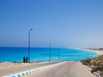 Agiba Beach in Marsa Matruh Royalty Free Stock Photo