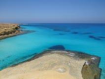 Agiba plaża w Marsa Matruh Zdjęcia Royalty Free