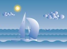 Żagiel łódź na słonecznym dniu Zdjęcia Stock
