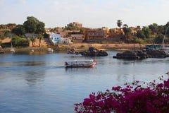 Żagiel łódź w Aswan Obraz Royalty Free