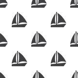 Żagiel łódź, wektorowy bezszwowy wzór royalty ilustracja